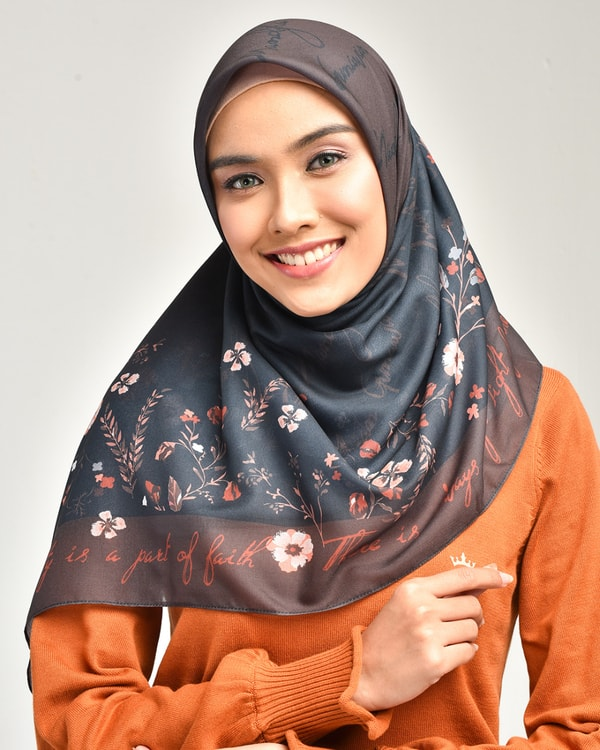 Shades Flower Brown Scarf